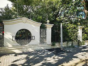 中式苏式园林围墙景观
