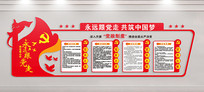 党的制度党员活动室党建文化墙