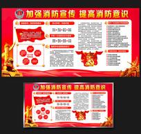 消防安全日主题宣传展板