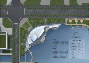 小镇滨水景观彩平设计