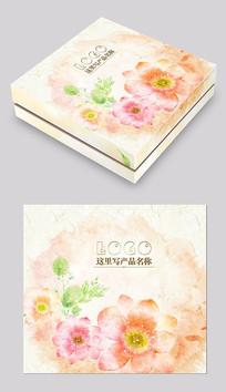 橙色花卉化妆品包装