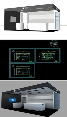电子设备展厅草图大师SU模型