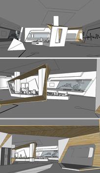 房地产展厅草图SU模型