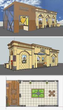 房交会展厅模型草图大师模型