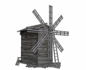 风车木屋模型