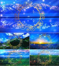 歌曲玛依拉舞台背景视频