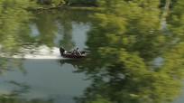海上游艇冲浪实拍视频