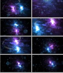 粒子光线特效背景视频