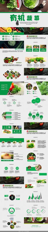 绿色生态蔬菜PPT模板