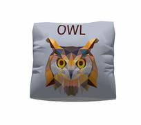猫头鹰图案抱枕