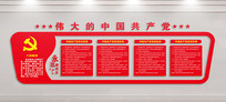 党员活动室党员制度文化墙