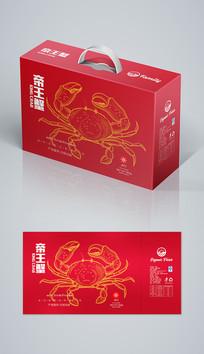 红色帝王蟹海鲜礼盒海鲜包装 AI