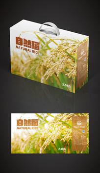清新绿色大米包装大米礼盒包装