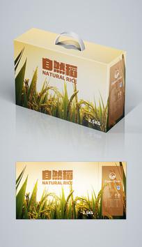 清新自然大米包装大米礼盒包装 AI