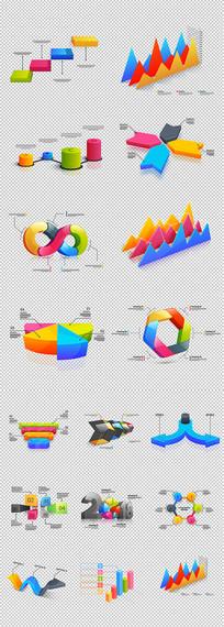 质感亮丽的数据图组