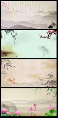 中国风水墨创意背景图片 PSD