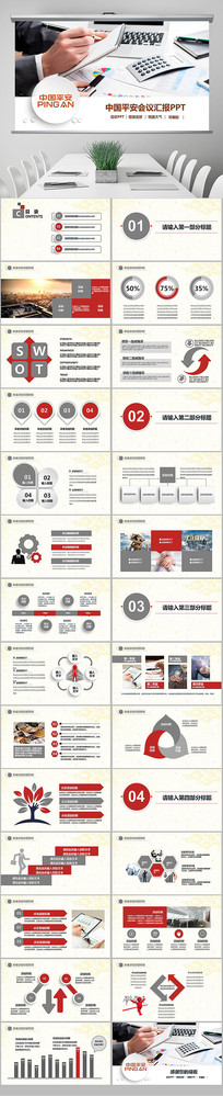 中国平安保险银行总结PPT