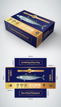 高端奢华马鲛鱼礼盒包装设计 AI