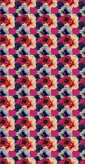 瑰丽花朵底纹背景素材