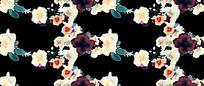 黑底背景花枝背景素材