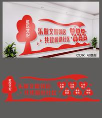红色社区文化墙