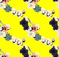 黄色阵列印花背景图