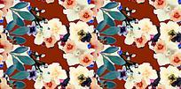 花枝手绘深色背景素材