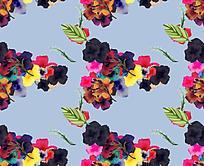 蓝底花朵素净背景素材 JPG