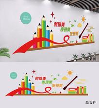 美术绘画背景墙