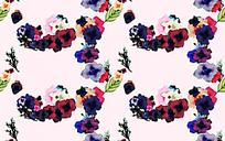 暖色底花卉手绘淡雅背景