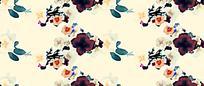 浅色手绘花朵淡雅背景图