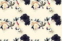 浅色手绘花朵素雅背景