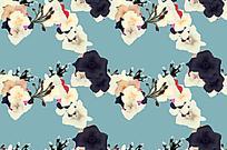 清新风格花朵油画背景图