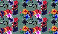 手绘花朵复古怀旧背景素材