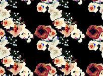 油画花朵复古怀旧背景素材