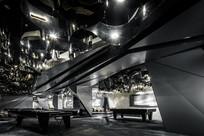 黑色元素售楼处台球室意向图