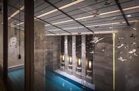 某古典中式接待会所泳池