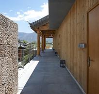 乡村自然元素民宿走廊意向