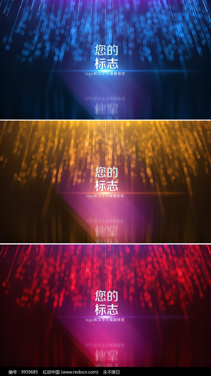 3款色彩粒子幕布标志展示模板