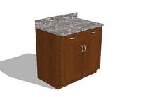 橱柜柜台模型 skp