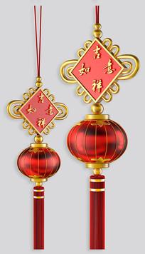 春节元素 ——中国结灯笼