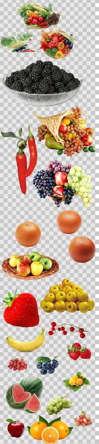 大气水果蔬菜设计素材