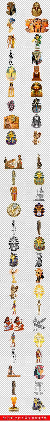 古代埃及旅游知识手绘素材 PNG