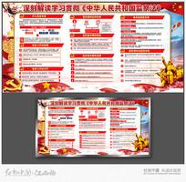 简约中华人民监察法展板