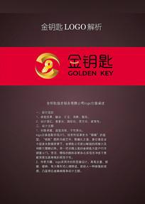 金钥匙金融标志logo