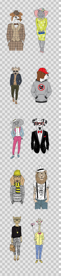 时尚动物设计素材