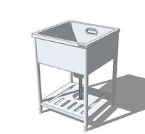 su方形洗菜池模型 skp