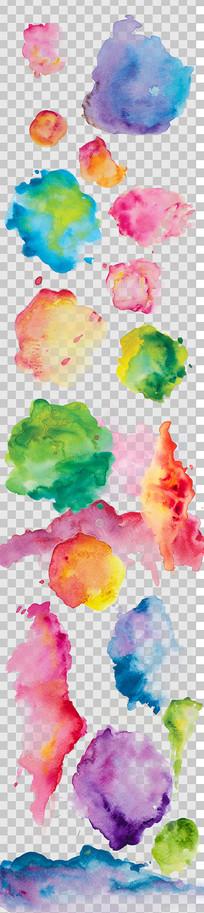唯美淡雅水彩墨迹设计素材