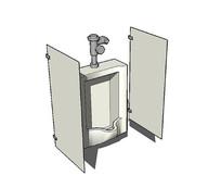小便池组合隔断模型