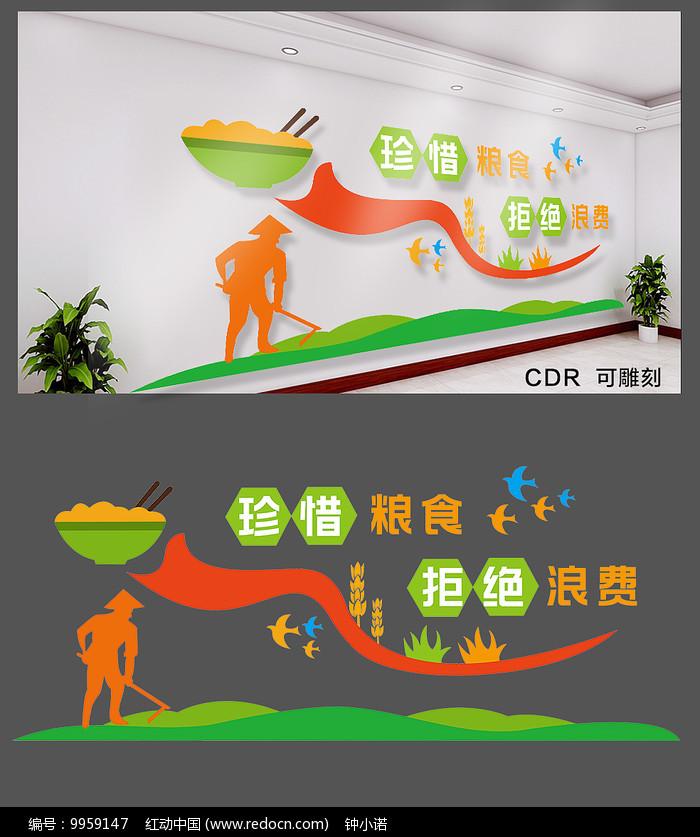 学校食堂文化墙图片
